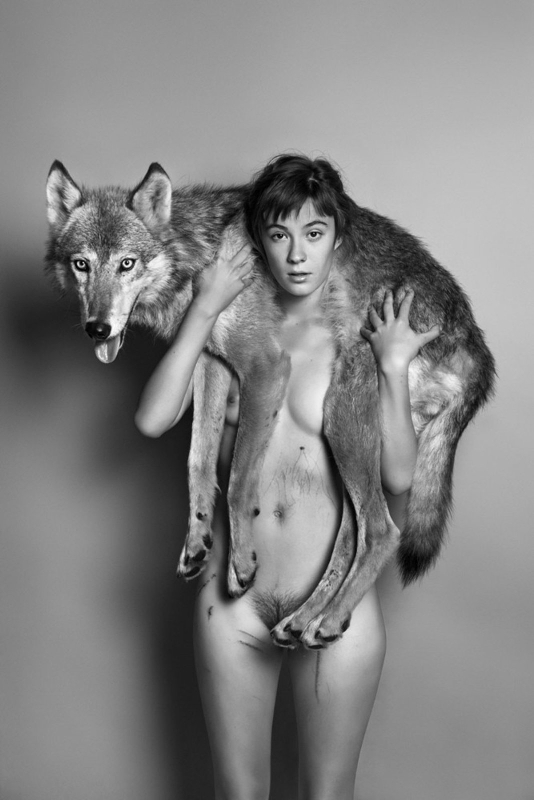 Naked with wolves naked picture